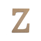 "4.5"" NATURAL WOOD LETTER - Z (24 PACKS) PF-4898"