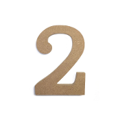 "4.5"" NATURAL WOOD NUMBER - 2 (24 PACKS) PF-4864"
