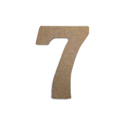 "4.5"" NATURAL WOOD NUMBER - 7 (24 PACKS) PF-4869"