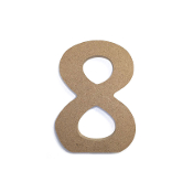 "4.5"" NATURAL WOOD NUMBER - 8 (24 PACKS) PF-4870"