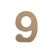 "4.5"" NATURAL WOOD NUMBER - 9 (24 PACKS) PF-4871"
