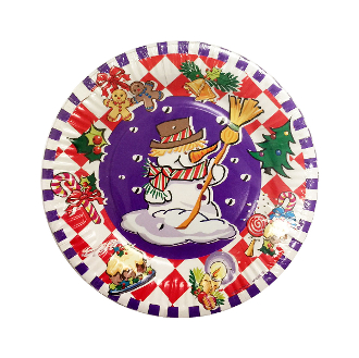 "SALE! 8 PCS 7"" PLATE - HOLIDAY SNOWMAN (48 PACKS) PF-14901"