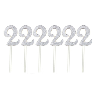 "4PC 4"" WOOD LETTER WITH STICK - #0 (24 PACKS) PF-5129"