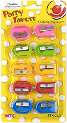 10 PC COLORFUL SHARPENERS (24 PCS) PF-1047