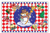 "SALE! 54""X72"" TABLECOVER - HOLIDAY SNOWMAN (48 PACKS) PF-14903"
