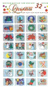 SALE! 32 XMAS LASER STICKERS (48 PACKS) PF-8347
