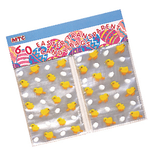 SALE! 60 EASTER TRANSPARENT CANDY BAGS (48 PCS) PF-8630